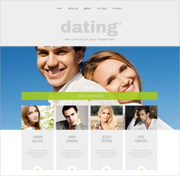 Free dating templates wordpress
