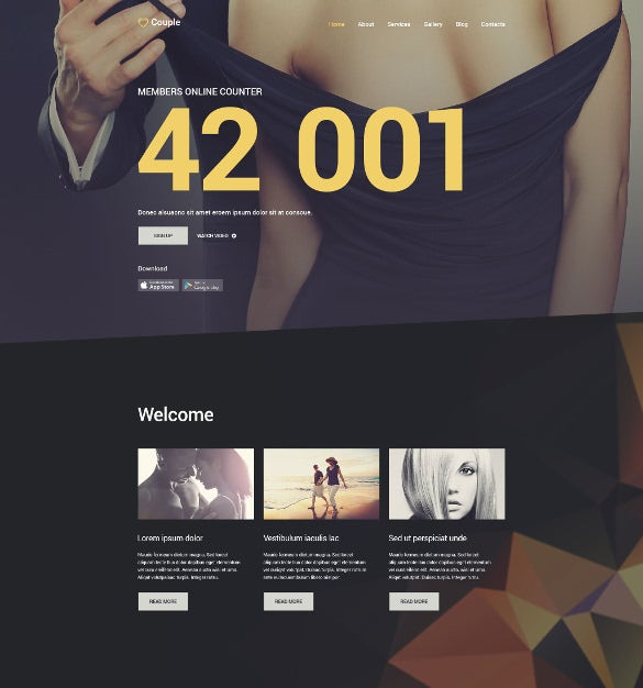 dating couple joomla website template