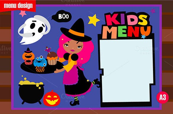 halloween holiday menu template