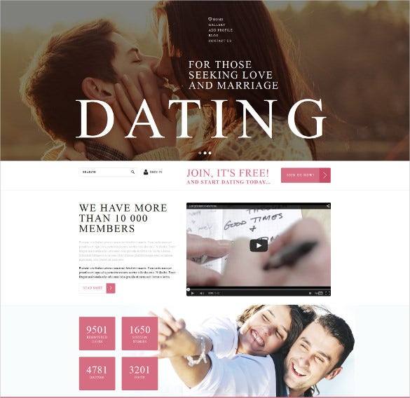 online dating services joomla website template