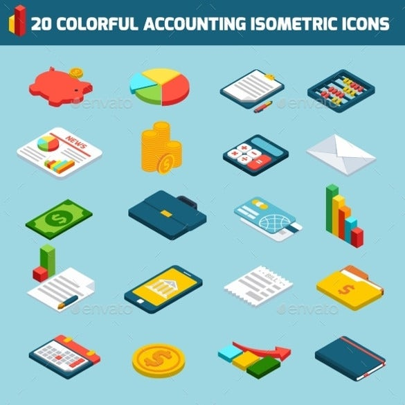 colourfull isotermic accounting icons