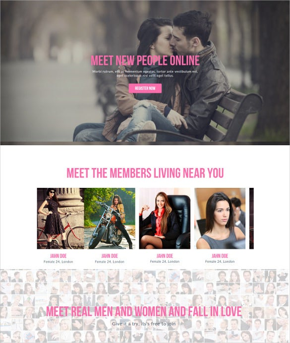 beautiful dating website template