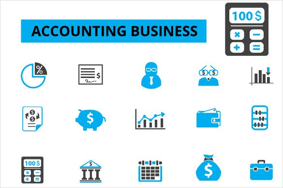 business accounting icons