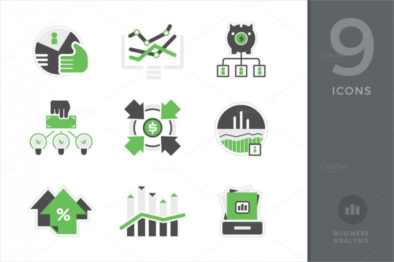 business analysis accounting icons 788x524