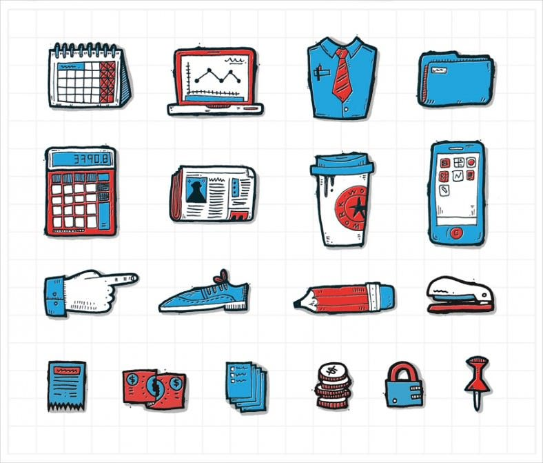 simple accounting icons 788x671