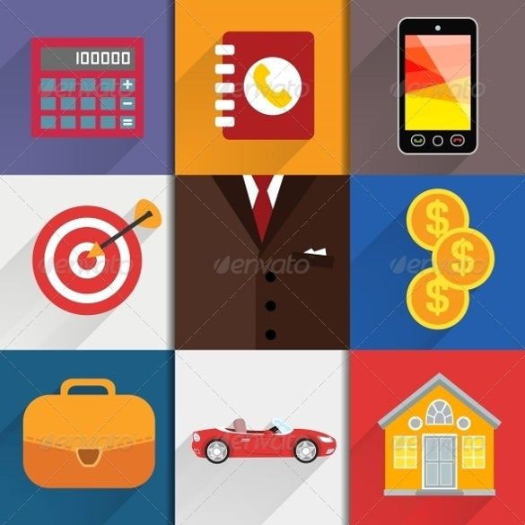 web designed accounting icons
