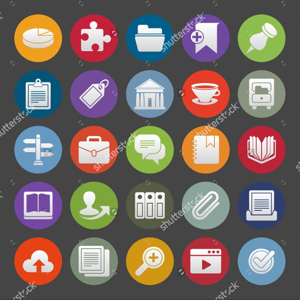 colourfull business accounting icons download