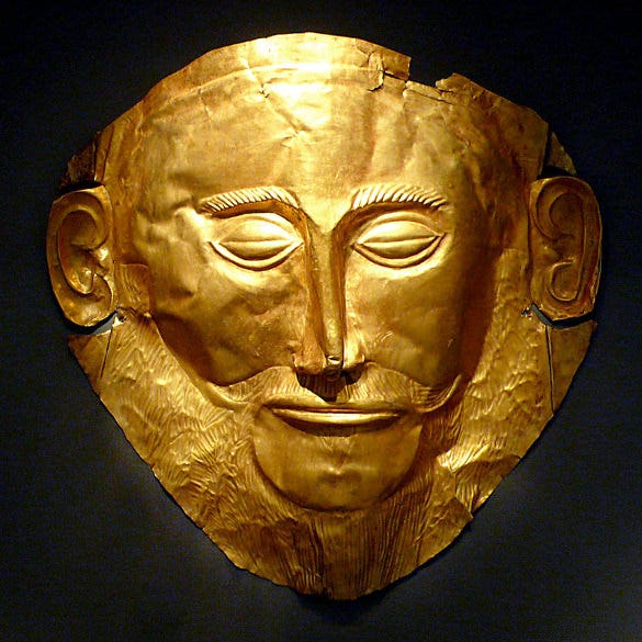 mask of agamemnon 1550 1500bc