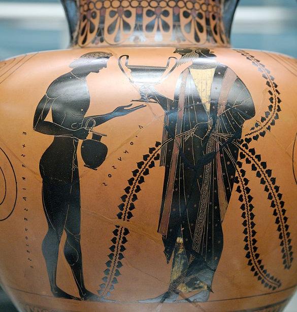 the dionysus cup by exekias c 540bc