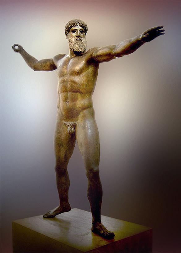 god from the sea zeus or poseidon470 bc