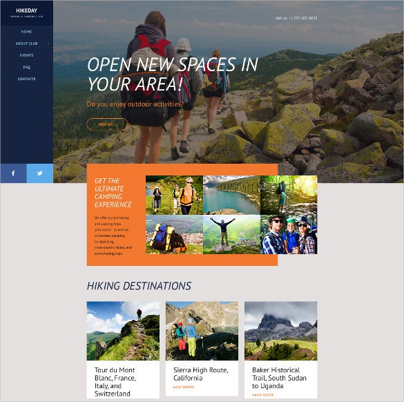 hikeday sport website template
