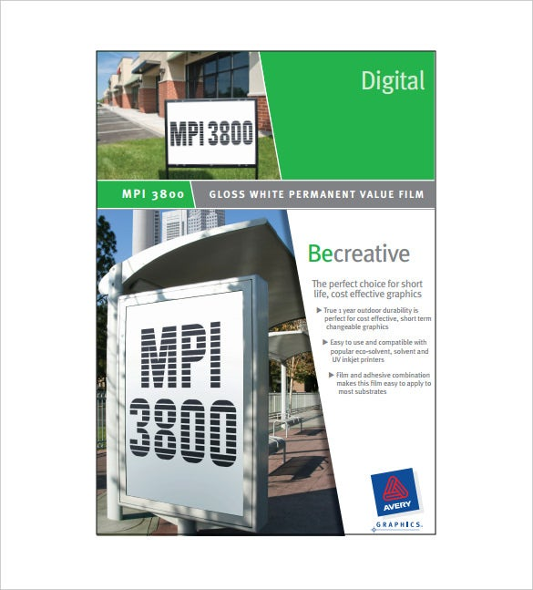 digital sell sheet free pdf template download