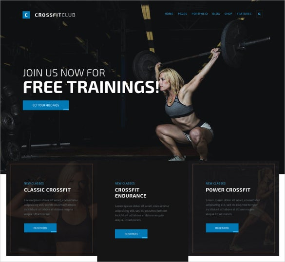 fight club sport wordpress website theme