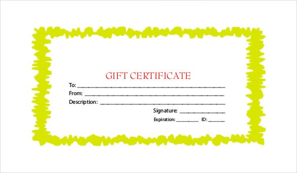 pdf format holiday gift certificate free template