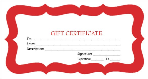 best holioday gift certificate template free pdf