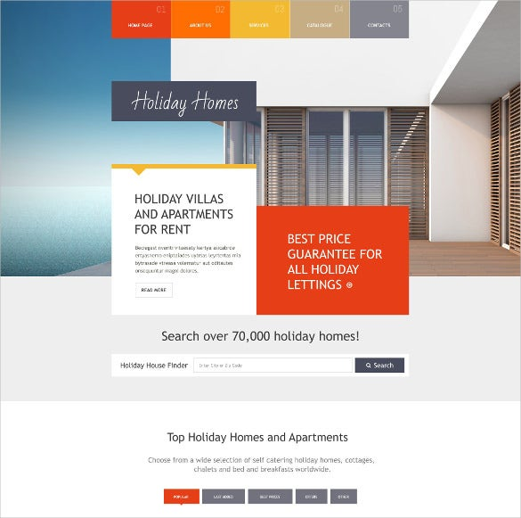 premium real estate agency realtor website template