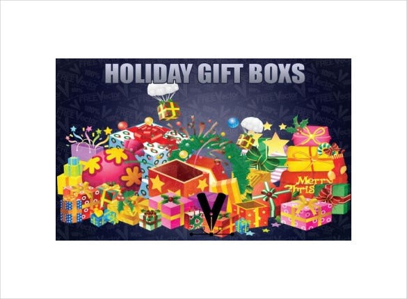 holiday gift boxs template