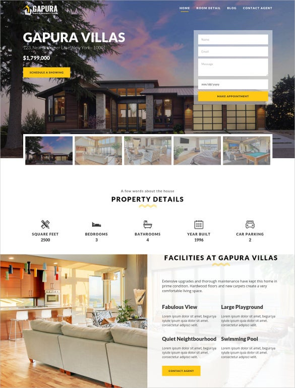 single property realtor wordpress website theme