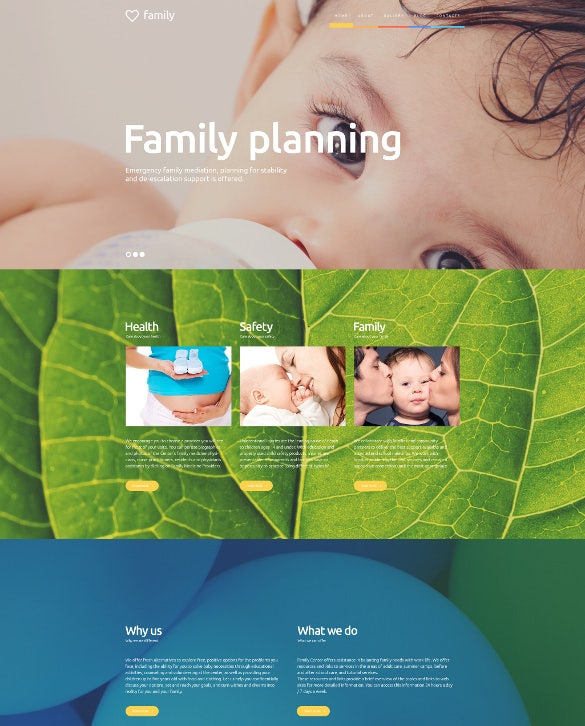 family planning wordpress website theme