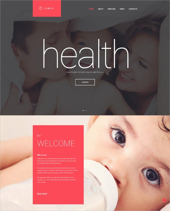 family drupal website template