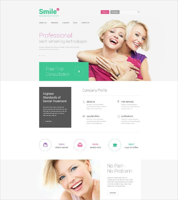 family dentistry drupal website template