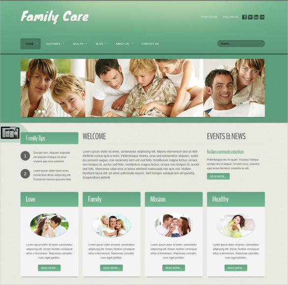 family care joomla website theme