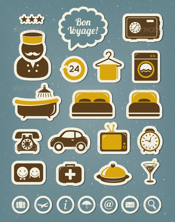 graphic designed hotel icons