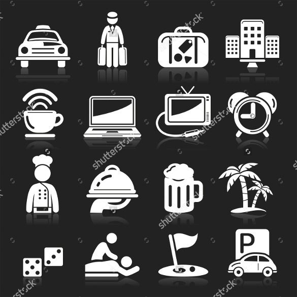 vector eps format hotel icons