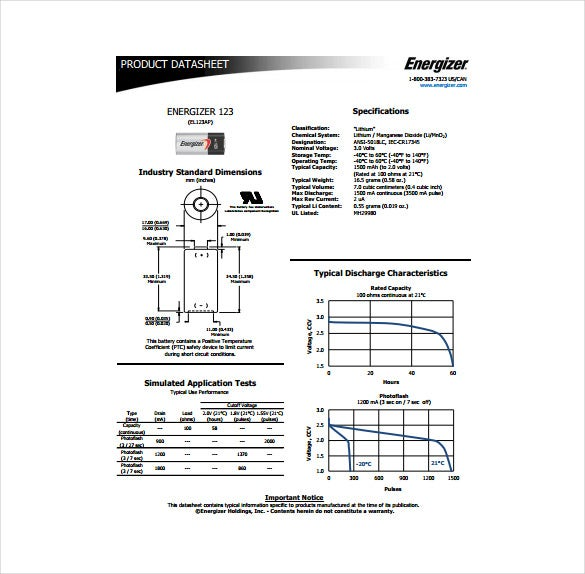 product datasheet pdf template free download