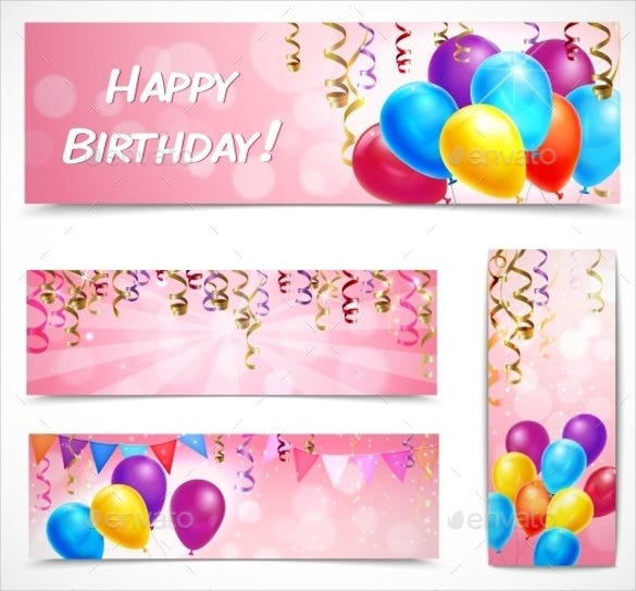 birthday celebration banner template