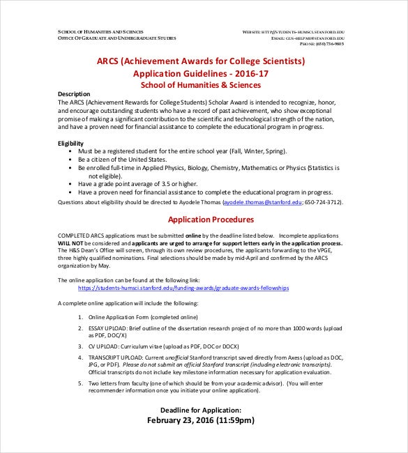 achievement awards for college scientists