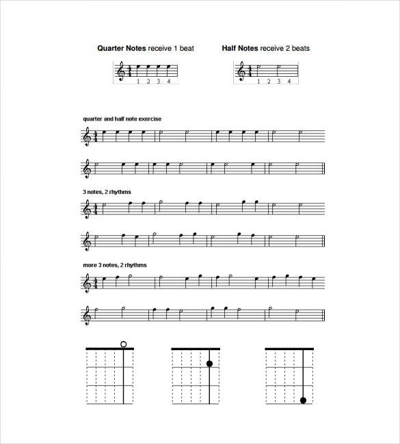 guitar music sheet pdf template free download