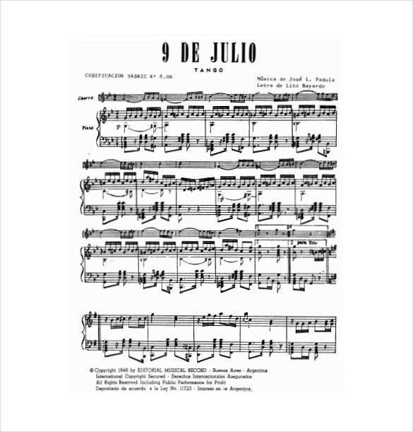 Sheet Music Template   Free Word Pdf Documents Download  Free