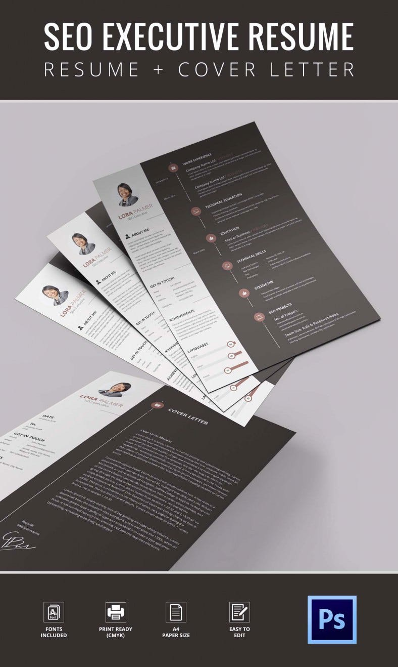 SEO Resume Template – 12+ Free Samples, Examples, Format Download ...
