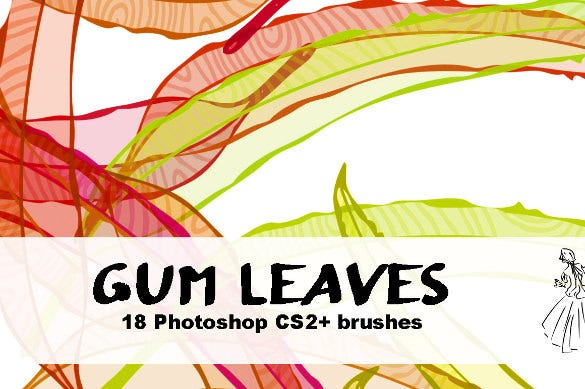 18 photoshop gum leaf brushes