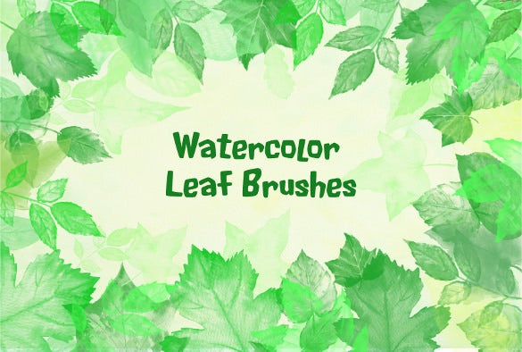 water color leaf brushes