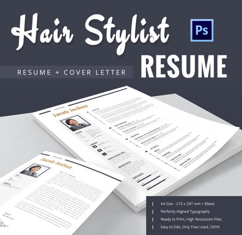 hair style resume mockup