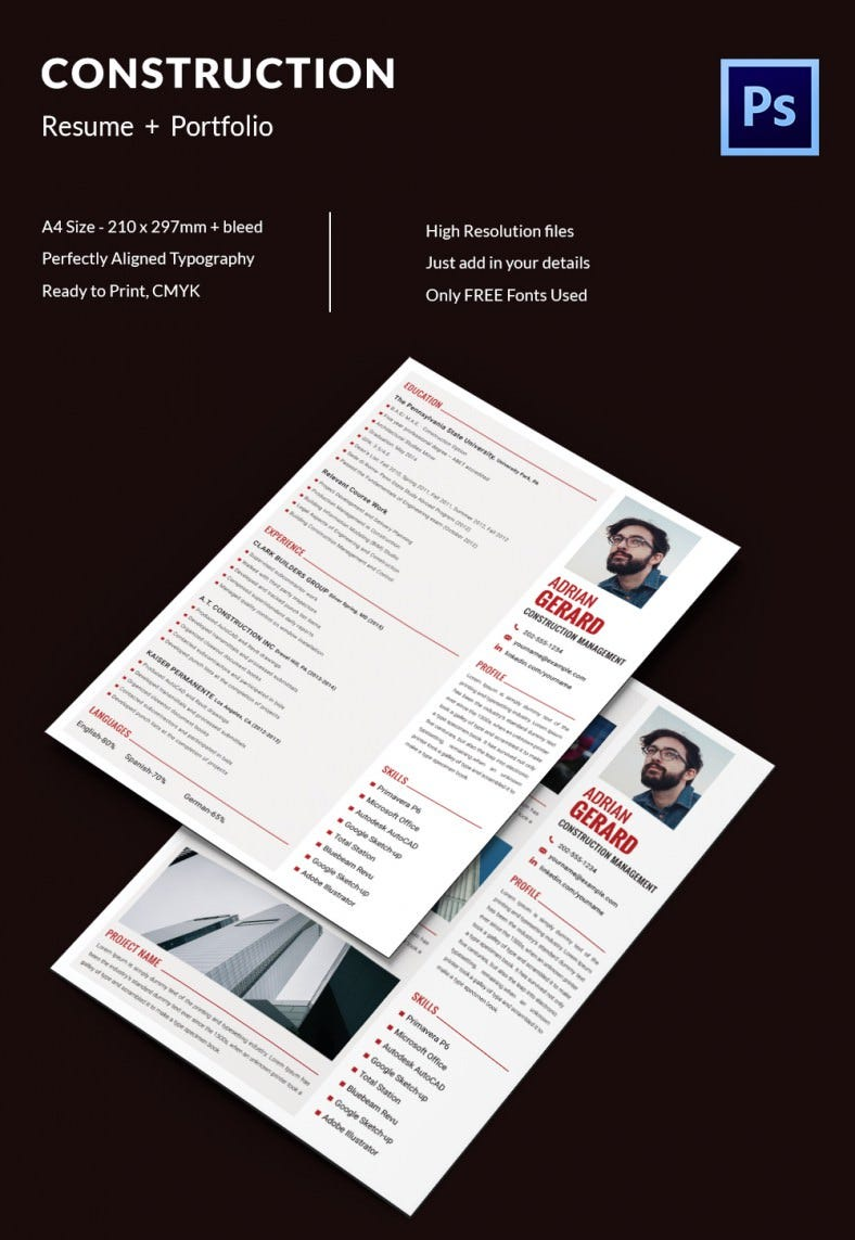 Creative Resume Template 79 Free Samples Examples