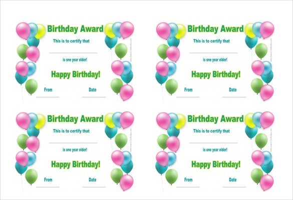 photo regarding Printable Birthday Certificates identify 25+ Birthday Certification Templates - PSD, EPS, Within Structure