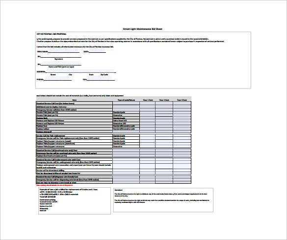Doc642410 Bid Templates Bid Proposal Template 6 Best Proposal – Bid Templates