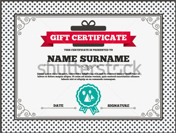 gift certificate for birthday celebration template