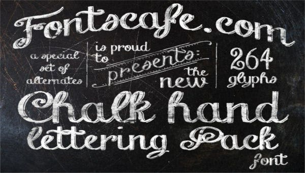 featured image chalkboard font template