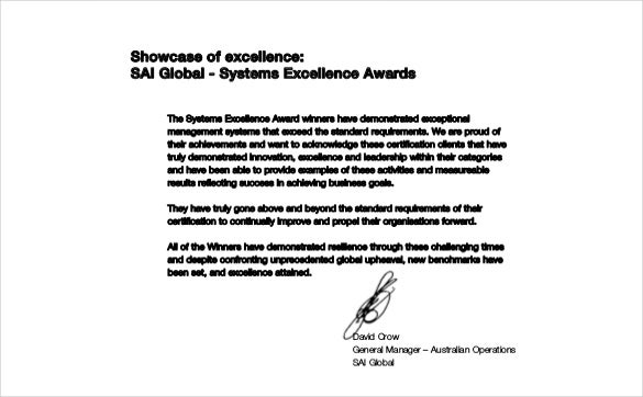 systems excellence awards