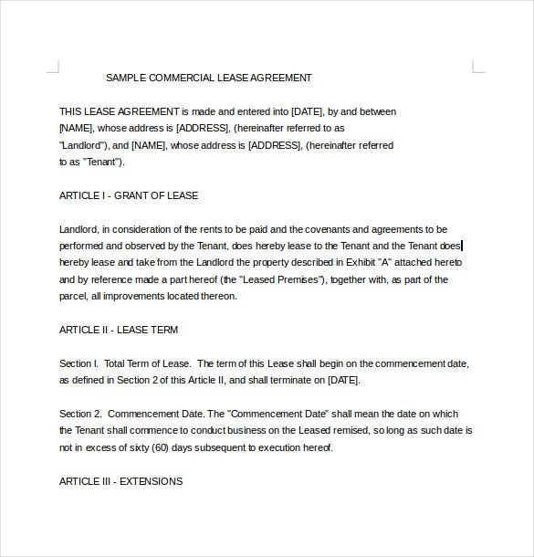 Lease Agreement Template 15 Free Word PDF Documents Download – Agreement Template Word