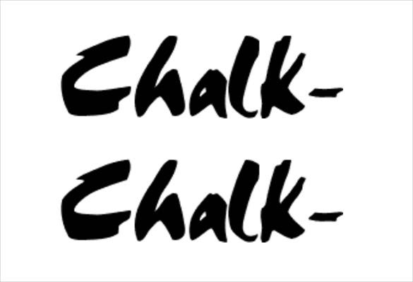 font of chalkboard template download