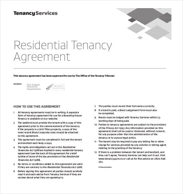 Lease Agreement Template 15 Free Word PDF Documents Download – Residential Tenancy Agreement Template Free