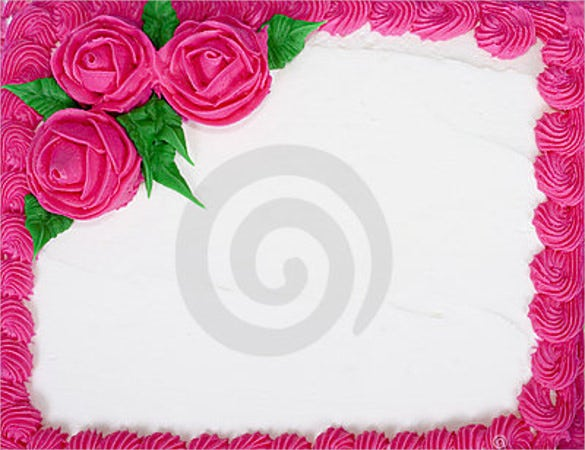 bright blank birthday cake template
