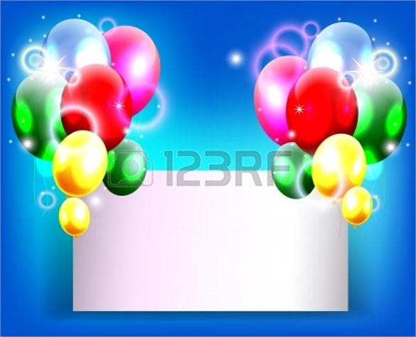 blank birthday background template