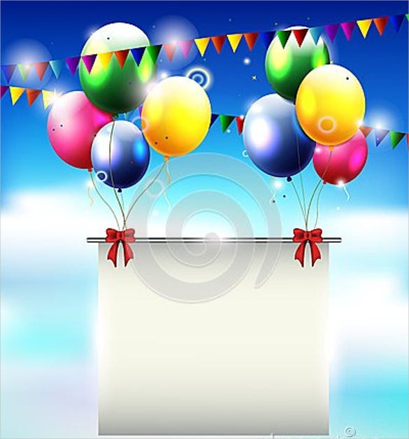 blank birthday templates  u2013 20  free psd  eps in design