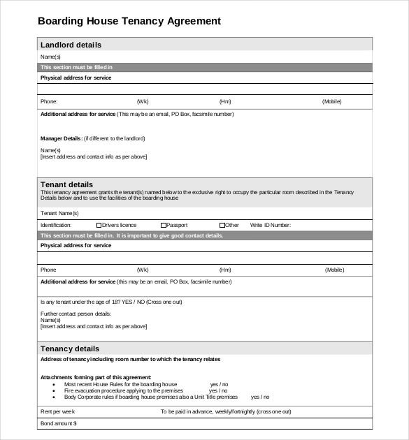 Lease Agreement Form Sample Rental Agreement Template Sample